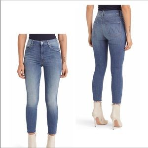 NWT Mother High-Waisted The Looker Frayed Size 31
